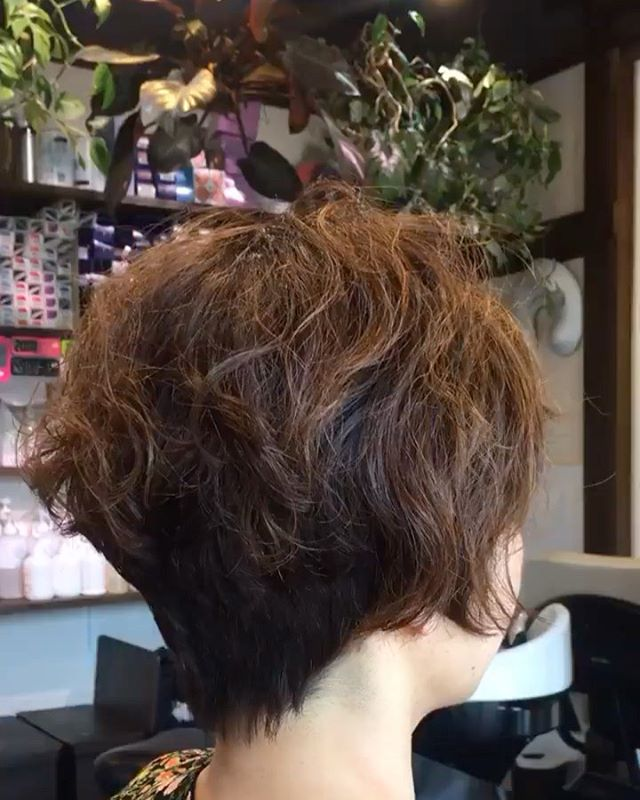 #くせ毛はいかして#一軒家美容室楽しいカットでスッキリね#ショートカット女子 #ショートカット