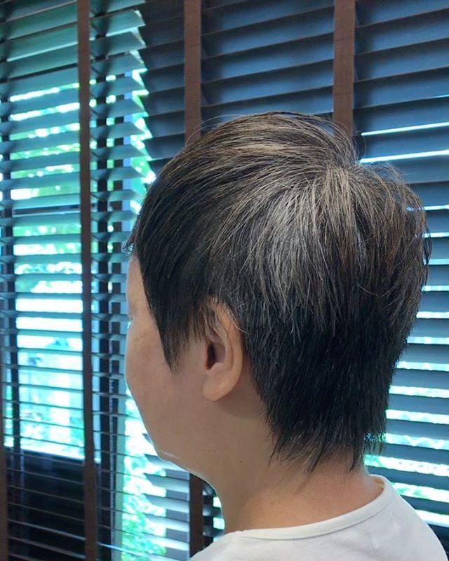夏は短く襟足 耳まわりは柔らかくシェードヘアで#シェードヘア