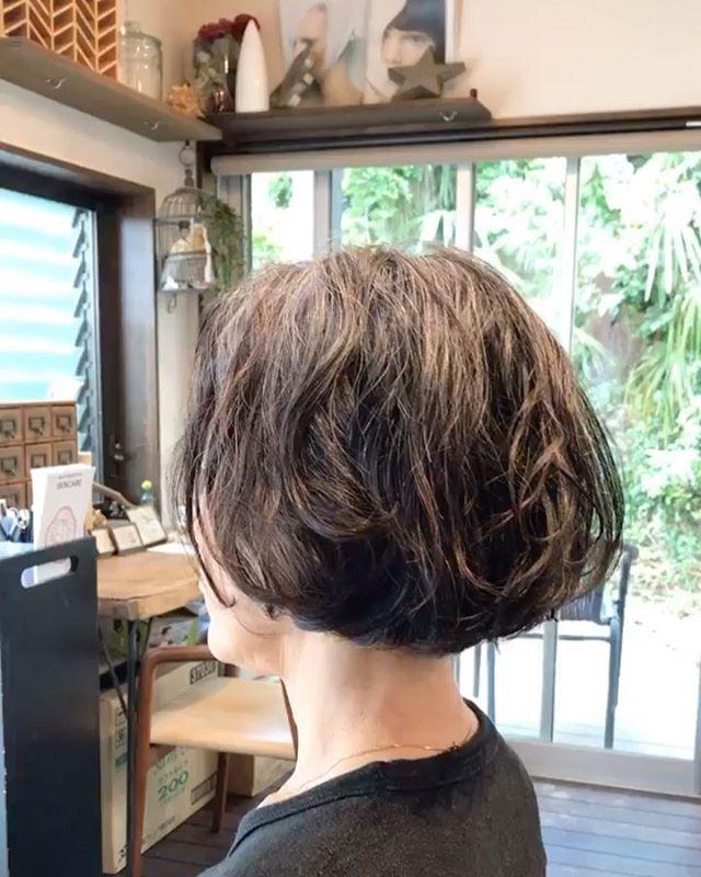 #くせのある髪の毛今回はパーマで活かしてみました。
