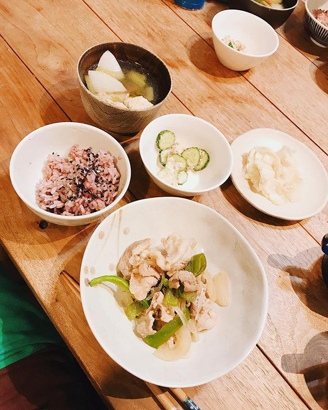 #さくら飯カット代金がわりに夕食作ってくれました。うれし〜^ ^